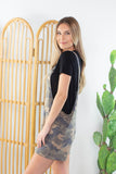At Ease Camo Overall Shorts