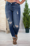 Walking On Sunshine Judy Blue Distressed Jeans