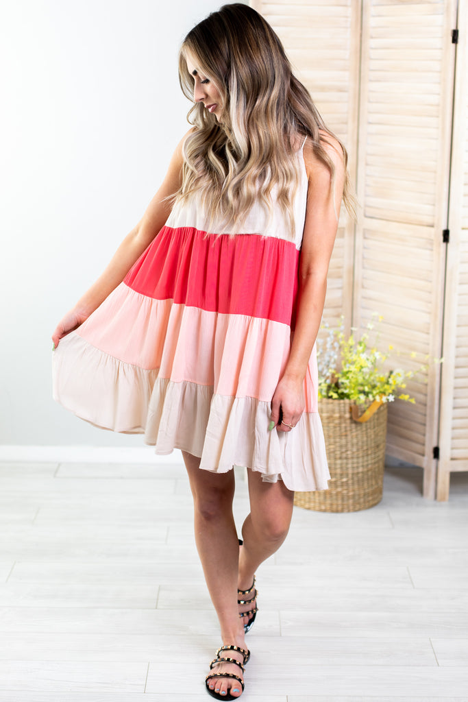 Poet Colorblock Dress