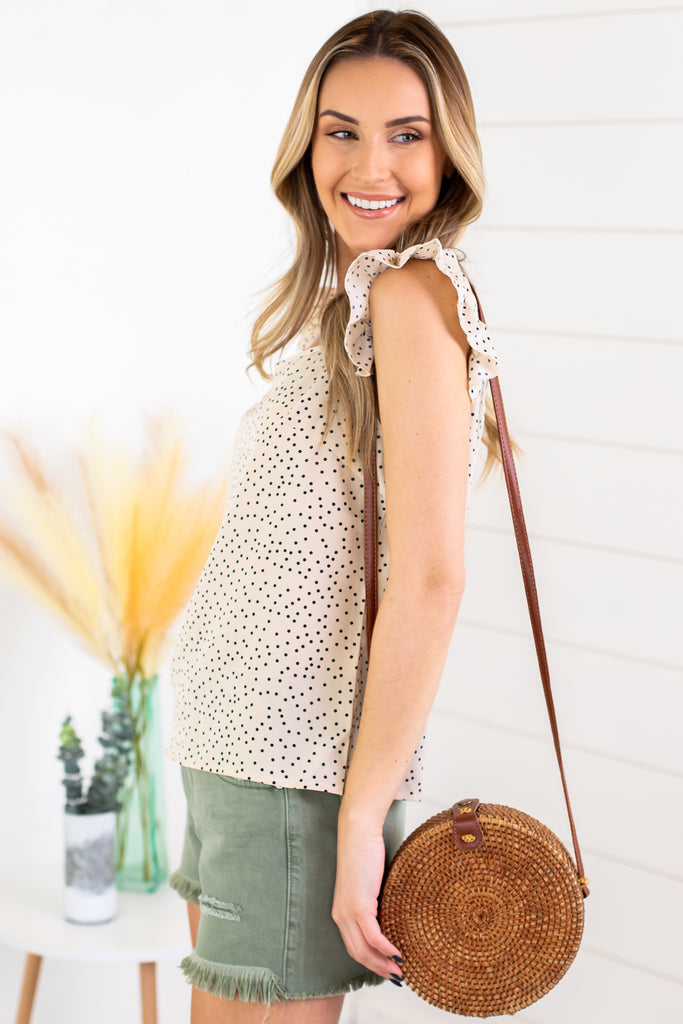 June Polka Dot Sleeveless Top