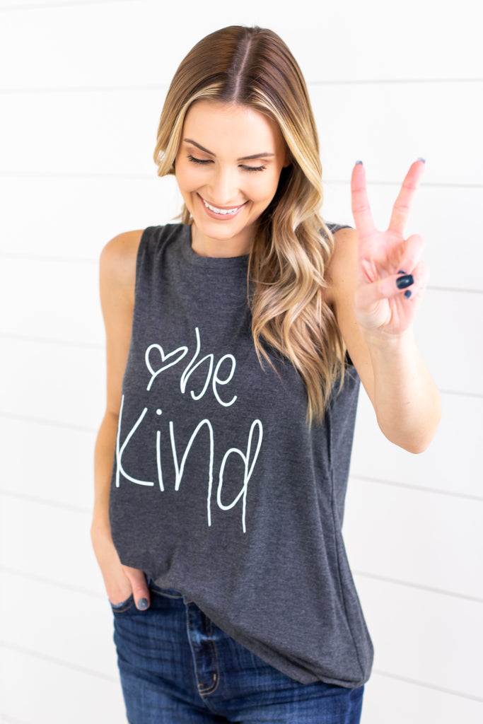 Be Kind Graphic Tank - 2 Colors