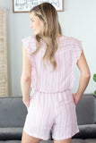 Mary Kate Striped Romper
