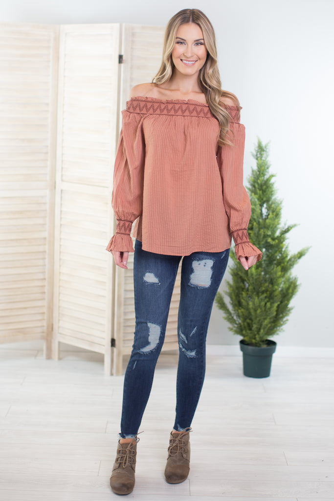 Downtown Abbey Off The Shoulder Top