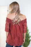Sophia Off The Shoulder Lace Top