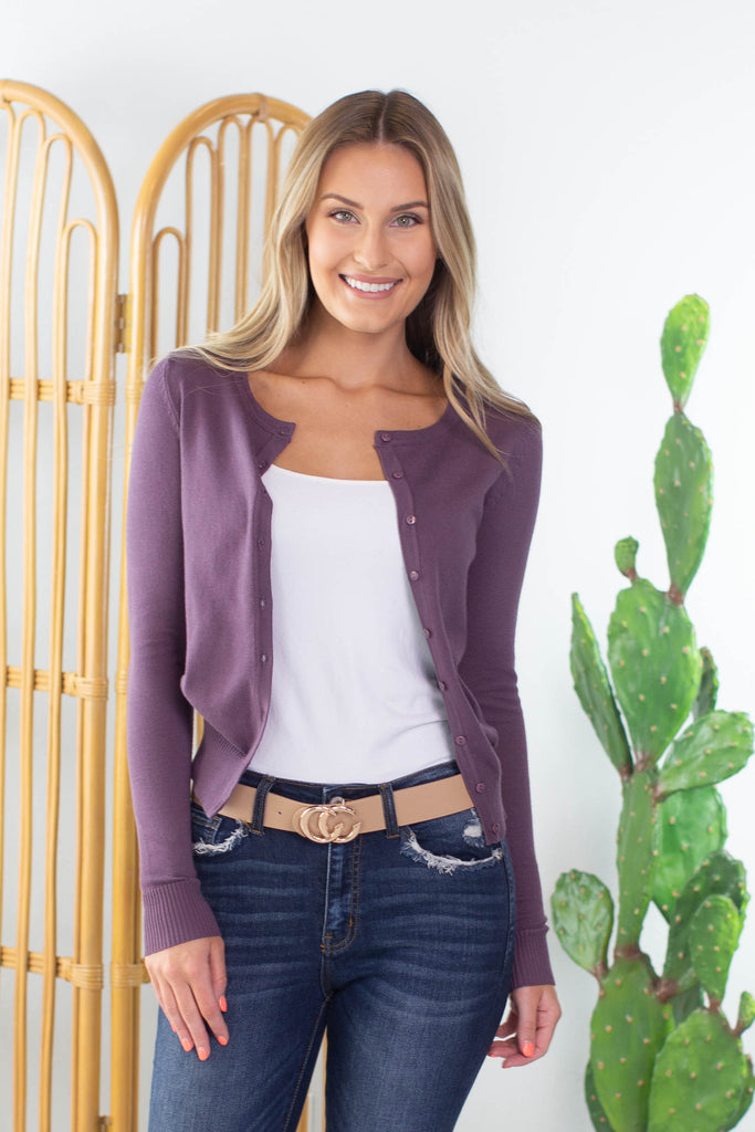 Church Service Button Cardigan - 4 Colors!!