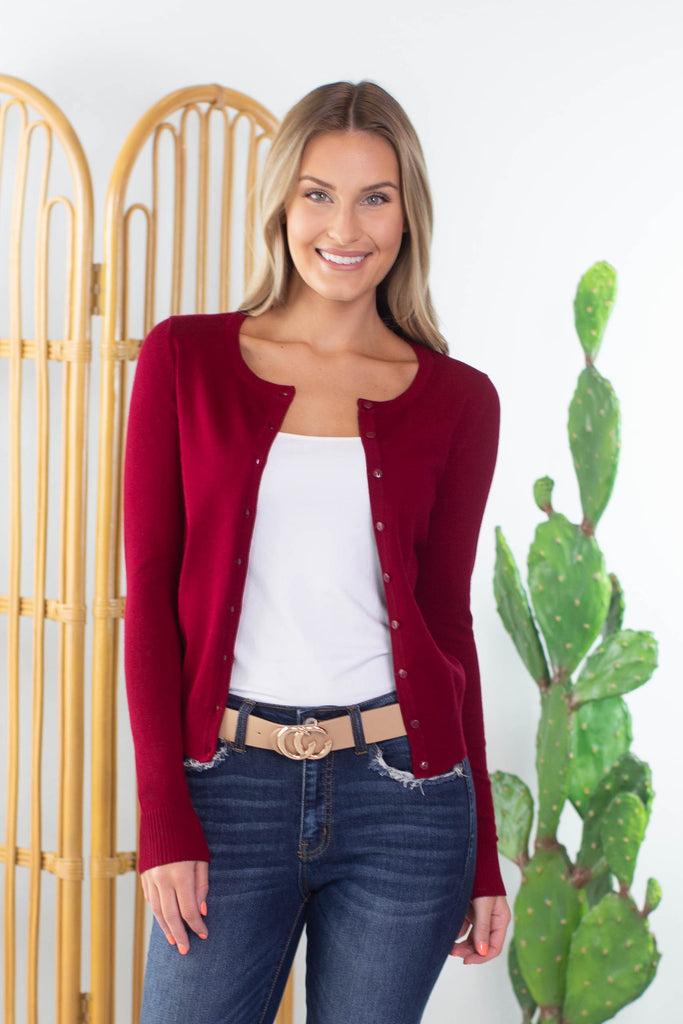 Church Service Button Cardigan - 4 Colors