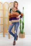 Fall Festival Striped Sweater - 2 Colors!!