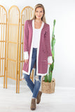 Candy Striper Long Cardigan