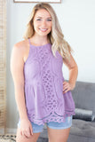Aquarius Lace Tank - 3 Colors