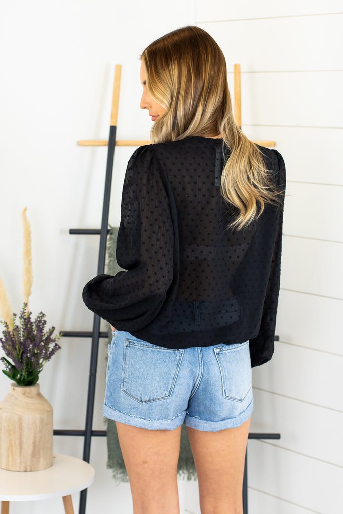 Thea Dotted Lace Top - 2 Colors