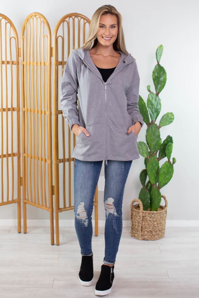 Basic Zip Up Hoodie