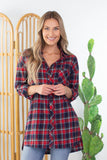 Alex 3/4 Sleeve Plaid Top - 2 Colors