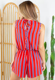 Independence Day Striped Romper