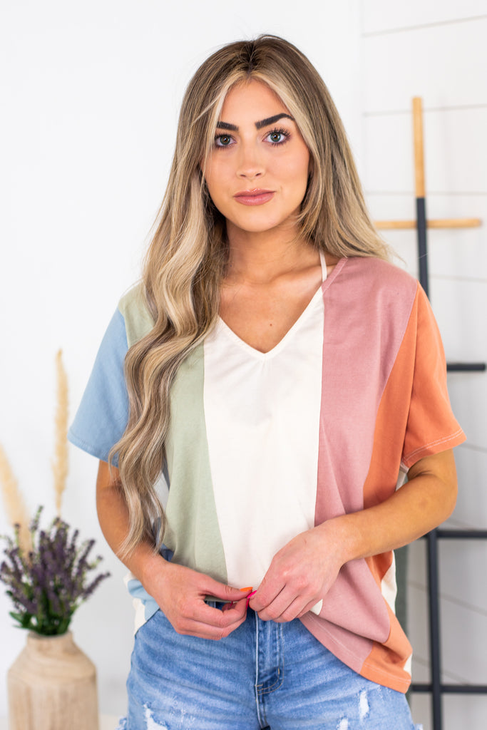 Electric Avenue Knotted Top
