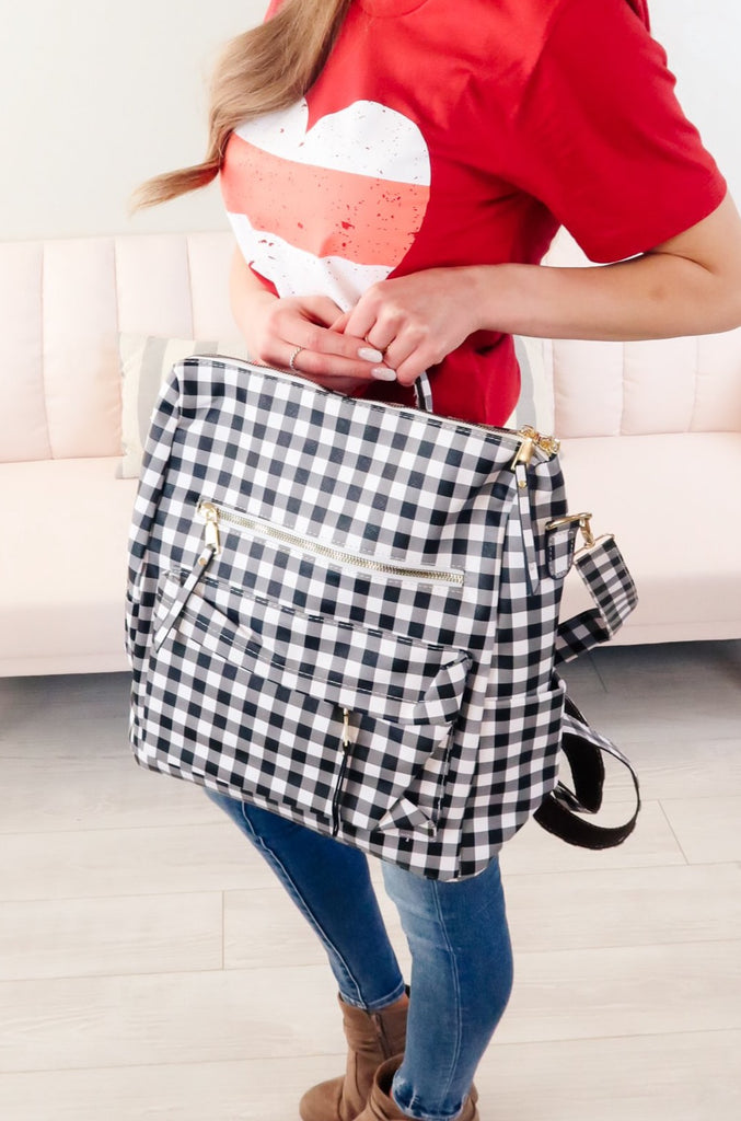 Cher Plaid Convertible Backpack Purse