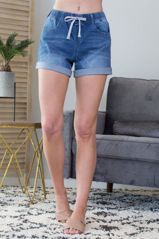Duke Elastic Waist Shorts -2 Colors