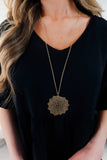 Metal Flower Pendant Necklace