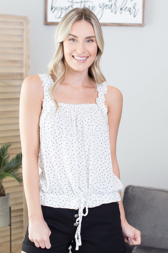 Emmy Dotted Cinch Top