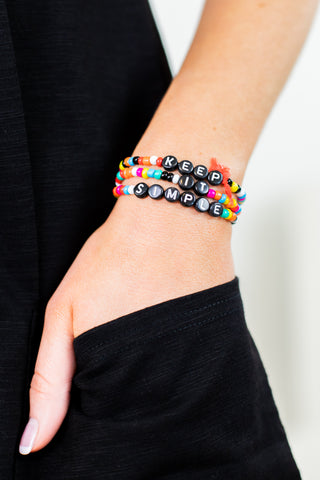 Locked In Multi Layer Charm Bracelet