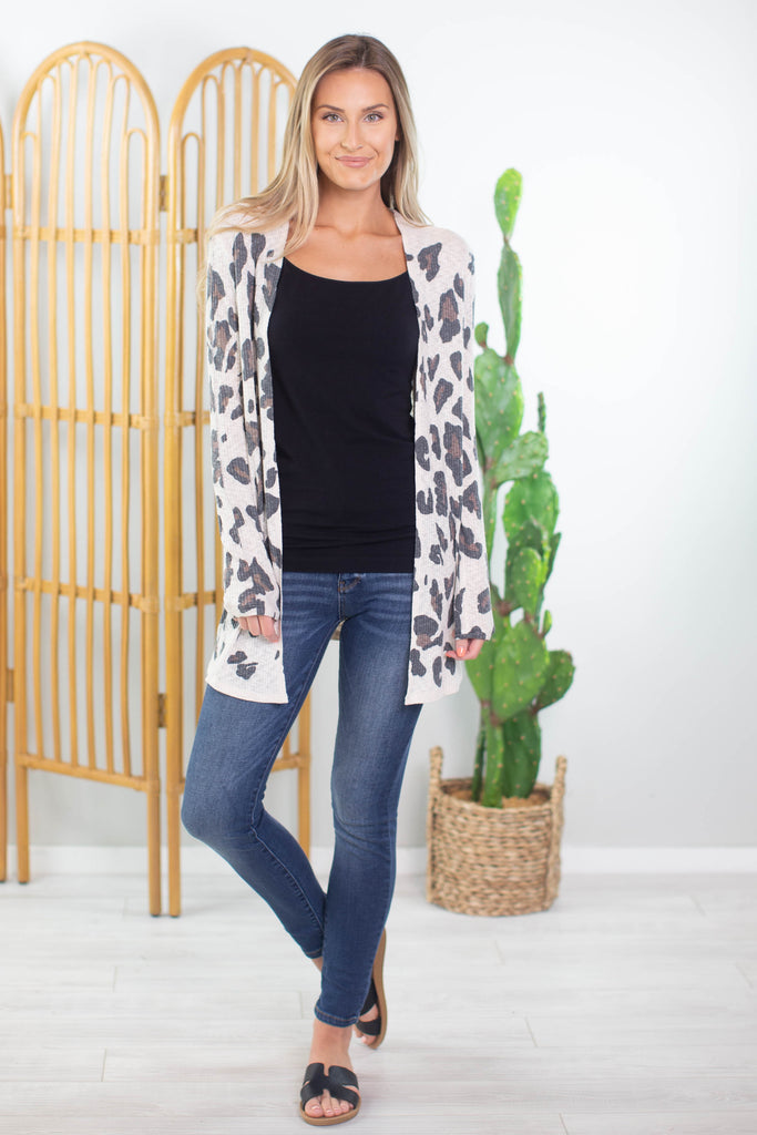 Wild Out Leopard Cardigan