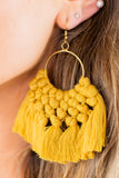 Braided Tassel Earrings
