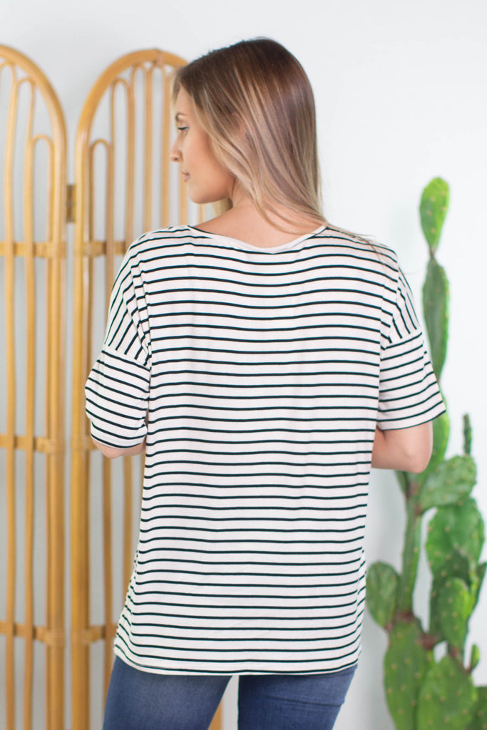 Jail Bird Striped Top - 3 Colors!!