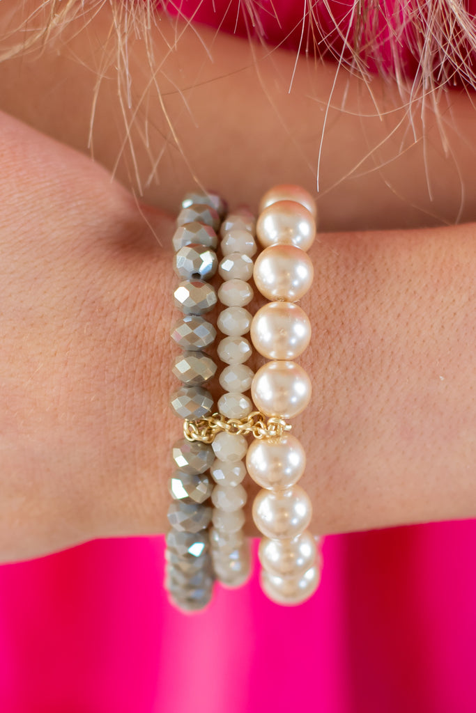 Pink Ladies Layered Bracelet