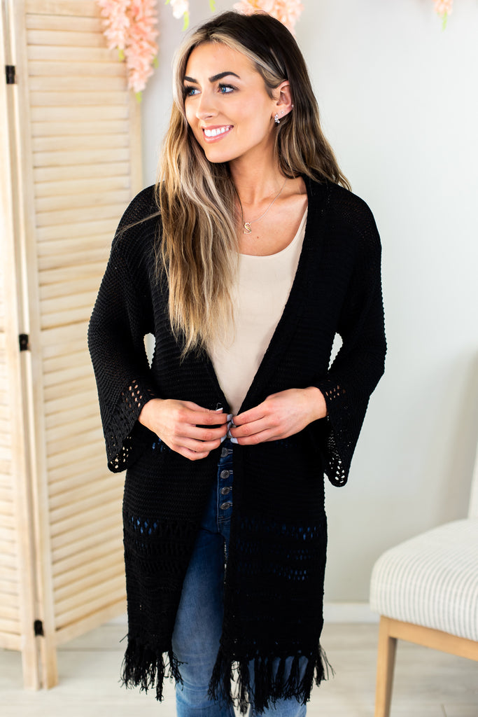 Boho Fringed Cardigan