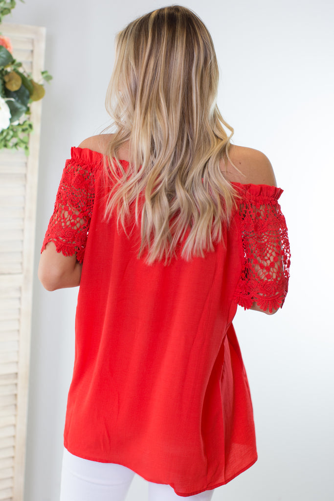 Kendall Lace Off The Shoulder Top - 2 Colors