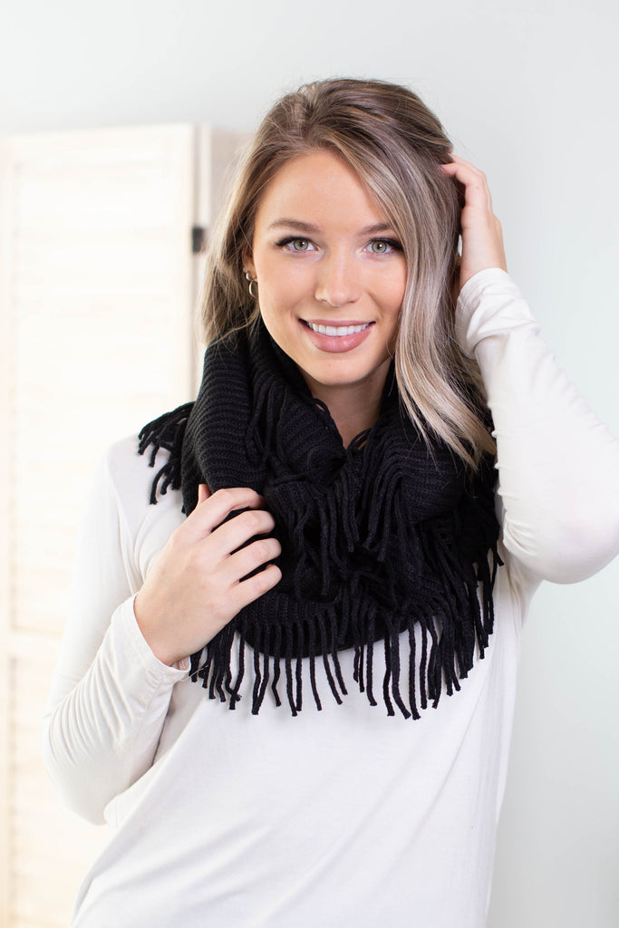 East Coast Ribbed Infinity Scarf