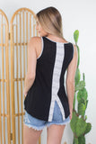 Candy Striped Sleeveless Tank- 2 colors!