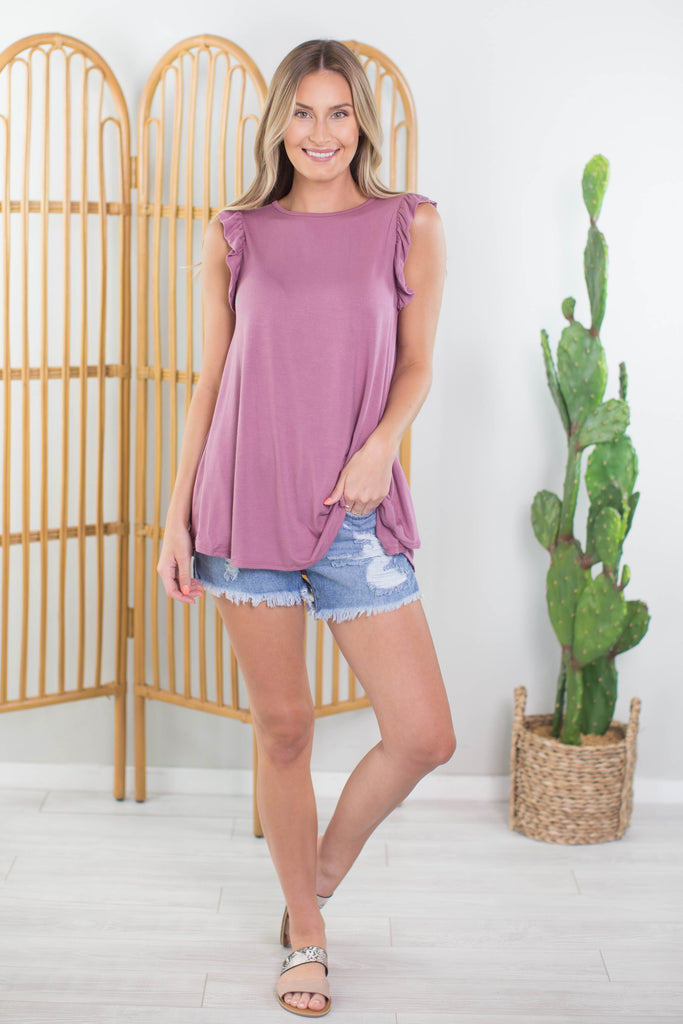 Pretty Woman Ruffle Sleeve Top