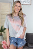 Spring Tie Dye Colorblock Top