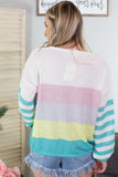 Mint Bon Bon Striped Sweater