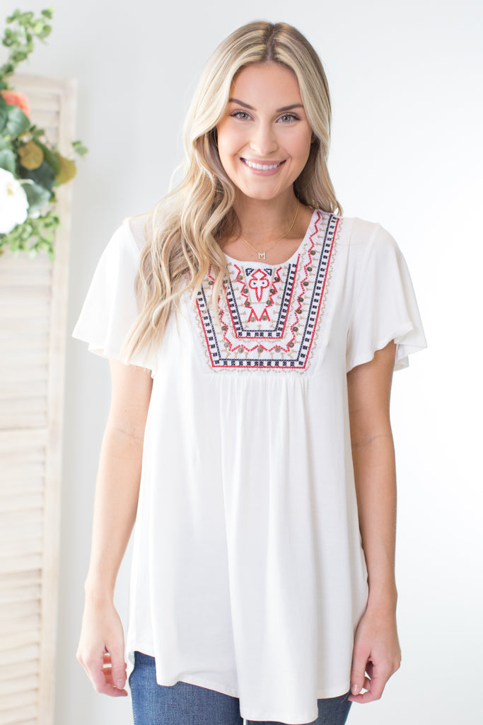 Prairie Embroidered Top