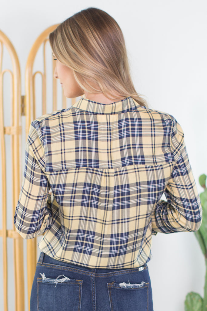 Lumberjack Tie Front Plaid Top