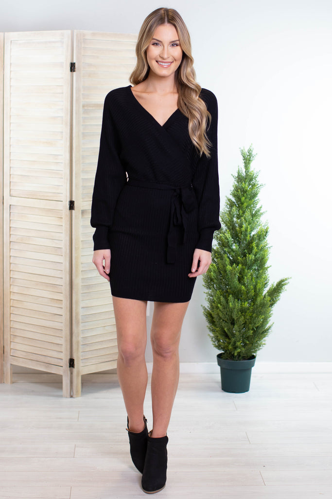 Little Black Wrap Dress