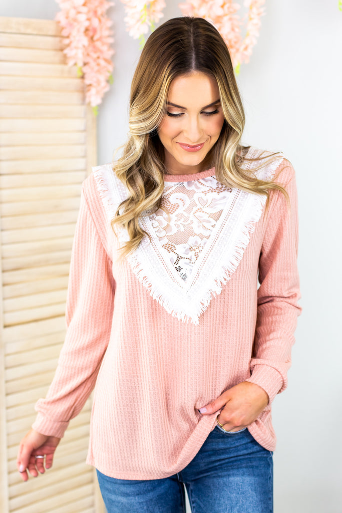 Alexandra Lace Detail Top - 3 Colors