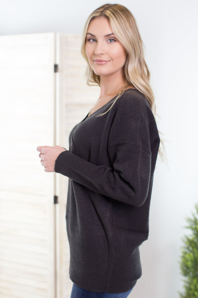 Lacey Wrap Front Sweater