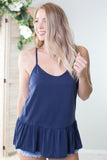 Ruffled Racer Back Tank - 2 Colors