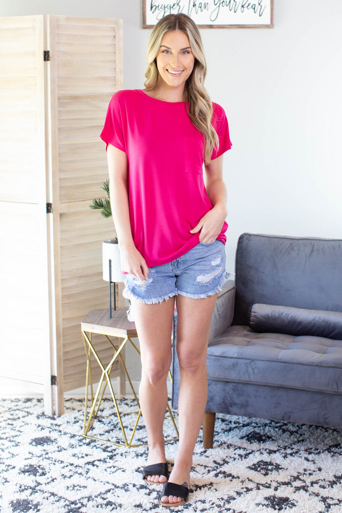 On The Go Pocket Tee - 4 Colors