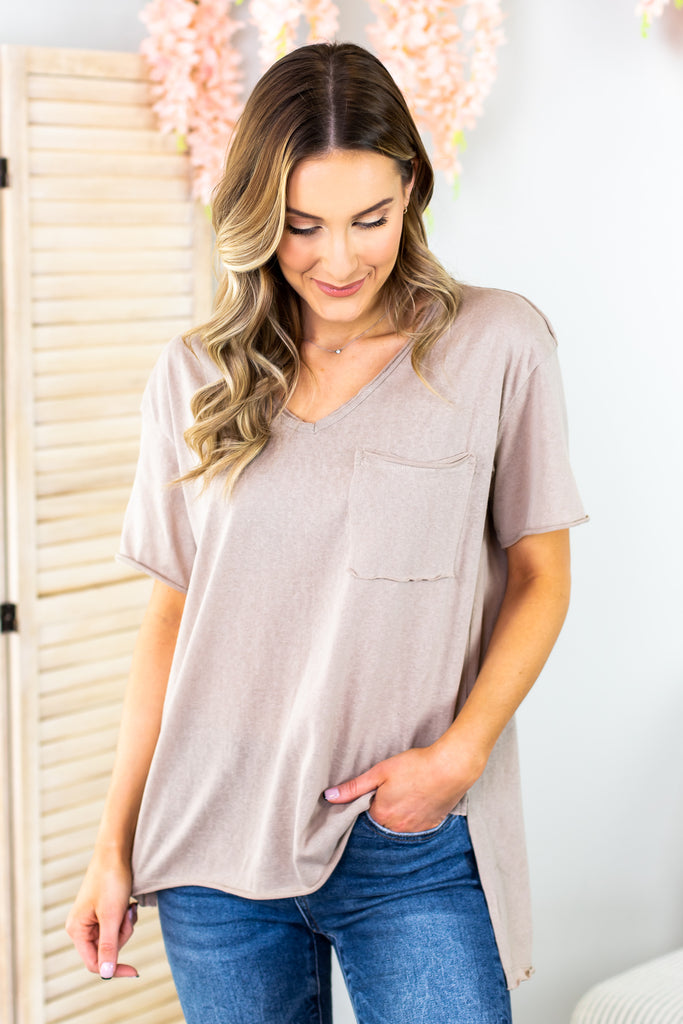 Sparrow High Low Basic Tee-4 Colors!!