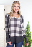 Vintage Christmas Plaid Top-2 colors!