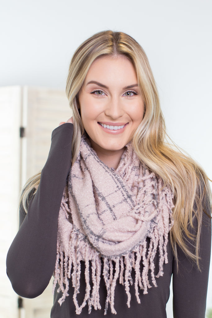 Urban Plaid Infinity Scarf
