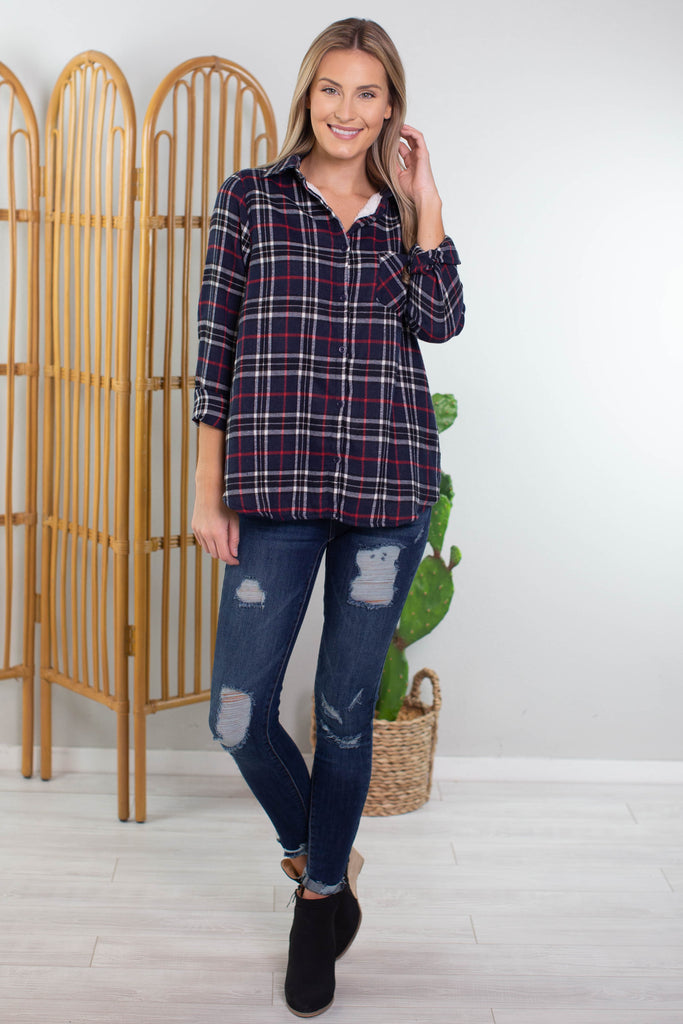 Log Cabin Plaid Shirt