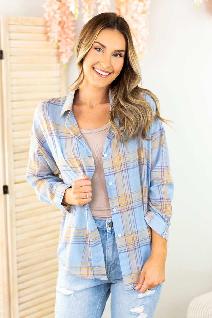 Colby Plaid Button Down Shirt - 2 Colors