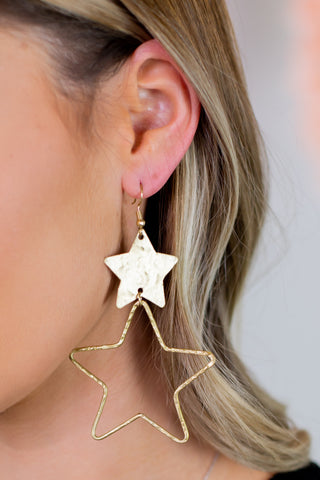 Star Wire Earrings