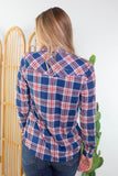 Jack and Diane Plaid Top
