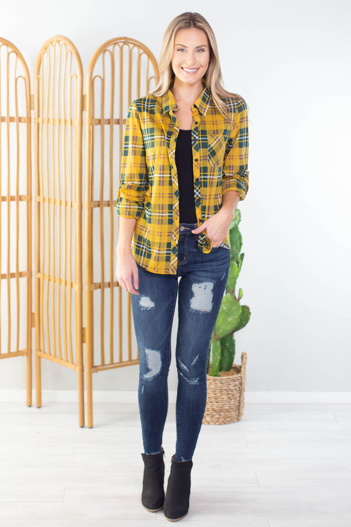 Country Time Plaid Top