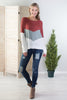 On The Edge Chevron Top